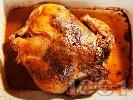 Рецепта Печено цяло пиле с билки и хрупкава коричка на фурна